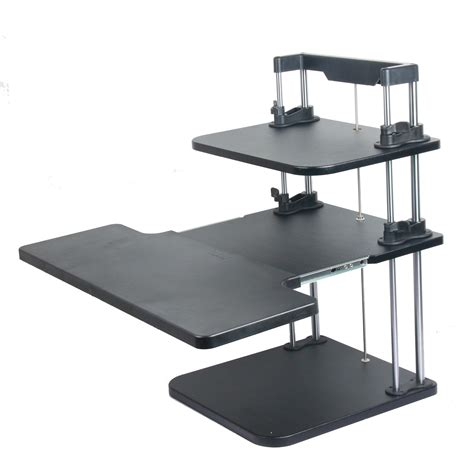 Standing Sitting Desks Adjustable Computer Standing Desks Lifter Sit Stand Desk Two Level Height Steady Adjustable Ebay