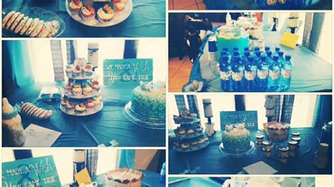 baby boy dessert table baby shower it s a boy decorated dessert table