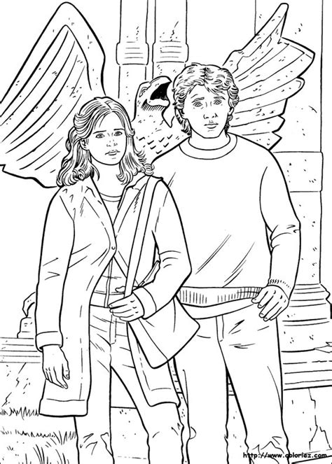 Free Coloring Pages Of Harry Hermione Hermione Coloring Pages