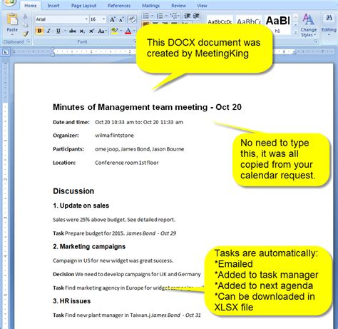 Memo Format Docx new meeting minutes and agenda in docx format meetingking