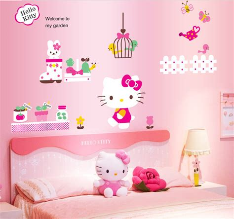 hello kitty stickers for bedroom walls hello kitty cat bow child cartoon hello kitty bedroom wall