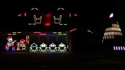 slayer bob s christmas lights display will make you headbang