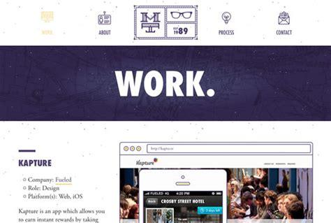 web design adalah 10 desain website portfolio brilian dengan html5
