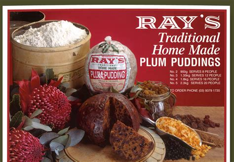 rays plum puddings tradional handmade christmas plum