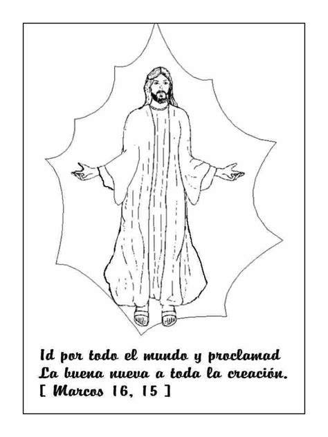 imagenes infantiles para colorear de jesus la ascensi 243 n y la gran comisi 243 n de jes 250 s para colorear