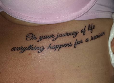 tattoos under your breast on your journey of everything happens for a