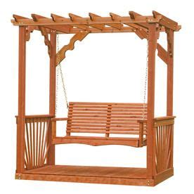 Wood Arbor Lowes 17 Best Ideas About Pergola Swing On Outdoor