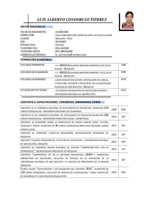 Modelo Curriculum En Chile Modelos De Curriculum Vitae Chileno Test Trtarabic Tv