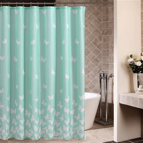 blue shower curtains light blue shower curtain with sweet butterfly patterns
