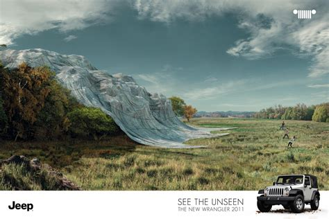 jeep print ads jeep wrangler quot unveil forest quot print ad by leo burnett