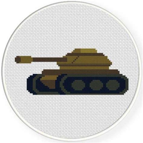 army pattern tank army tank cross stitch pattern daily cross stitch