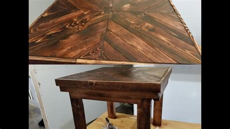 pallet wood end table diy pallet wood end table tutorial easy