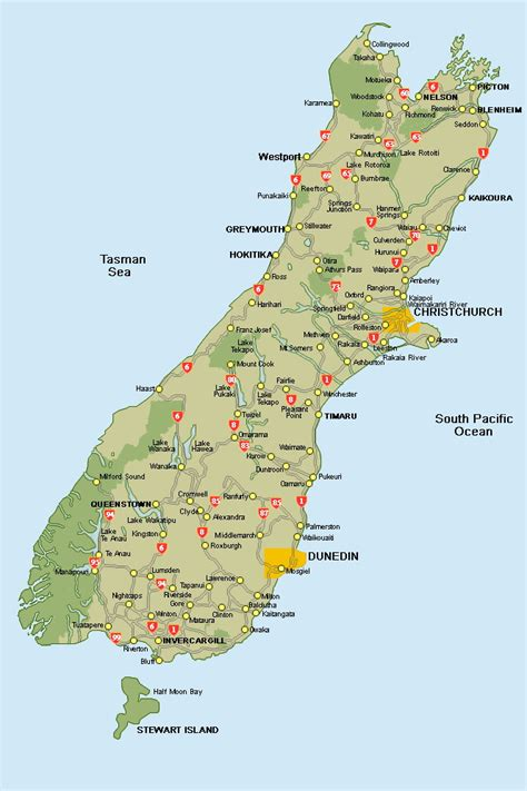 printable map queenstown 0 map south island new zealand