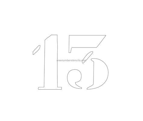 printable curb number stencils free curb painting 13 number stencil freenumberstencils com