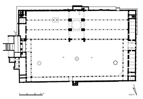 floor plan of a mosque jami al umawi al kabir floor plan and perspective
