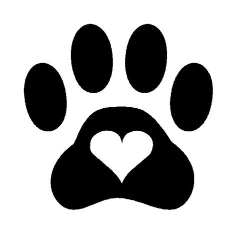 printable cling stickers paw print heart dog cat pet vinyl decal sticker puppy cute