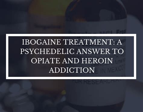 Ibogaine For Methadone Detox by Ibogaine Treatment A Psychedelic Answer To Opiate And