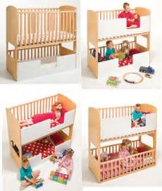Crib And Toddler Bed In Small Room Toddler Baby Bunk Bed Kid S Rooms Space