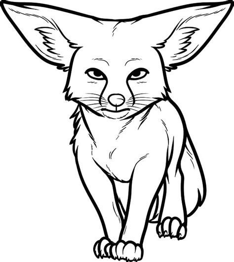 desert fox coloring page desert kit fox coloring pages coloring pages