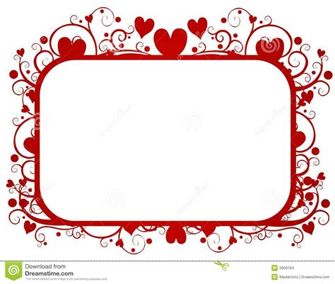 valentines frames hearts swirls s day frame stock images