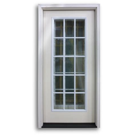 15 Light Exterior Door Pre Hung 15 Lite Fiberglass Exterior Door Primed White Home Surplus