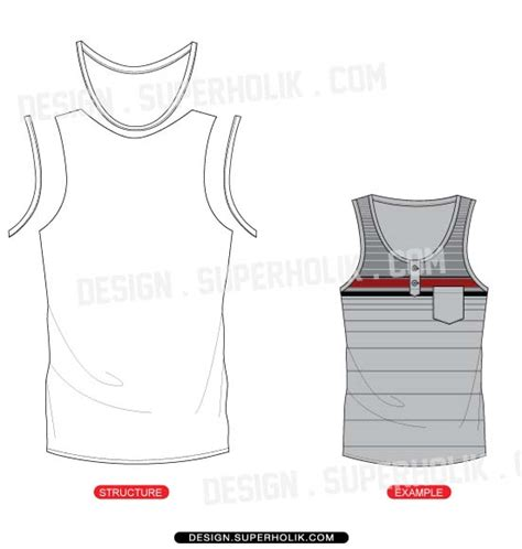 tank top vector template set hellovector