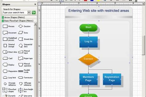 visio flowchart shapes how to create a flowchart in visio create a cross