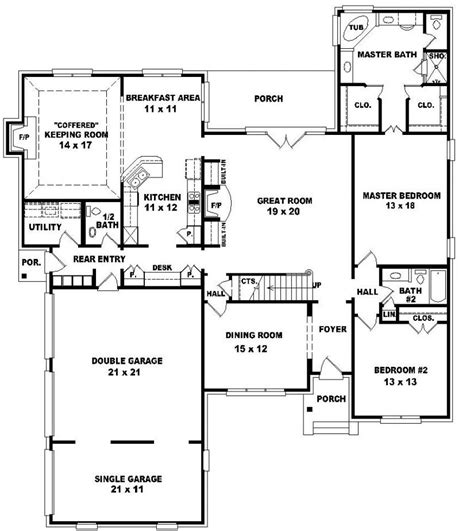 5 Bedroom 2 Story House Plans by 2 Story 5 Bedroom House Plans