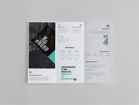tri fold brochure template design tri fold brochure template