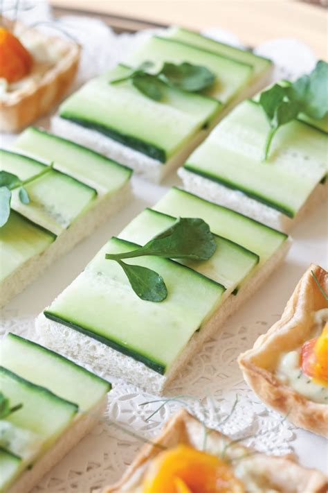 cool canapes cucumber canap 233 s teatime magazine