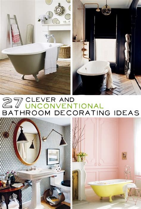clever home decor ideas 27 clever and unconventional bathroom decorating ideas