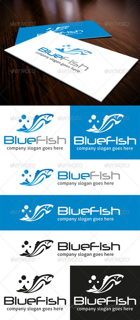 Blue Fish Logo Graphicriver Bluefish Website Templates