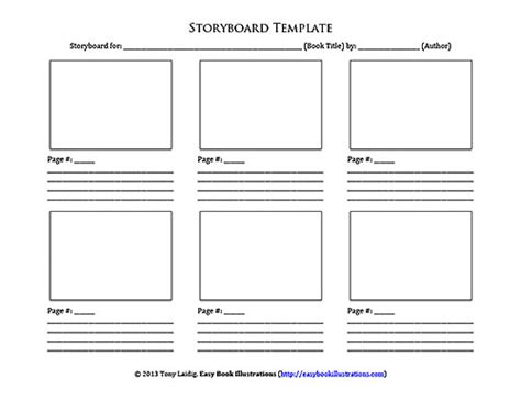 Microsoft Word Ebi Storyboard Docx Template For Writing A Children S Book