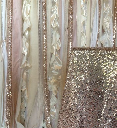pink sequin curtains sequin wedding garland pink blush ivory white fabric party