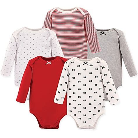 hudson baby 5 pack bodysuits cray hudson baby 174 5 pack baby bows sleeve bodysuits in