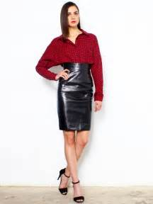 pencil leather skirt dress ala