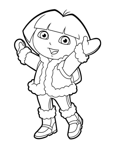dora winter coloring pages 96 print free dora coloring pages coloring pages