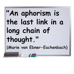 Aphoristic Essay Definition by Definition And Exles Of Aphorisms