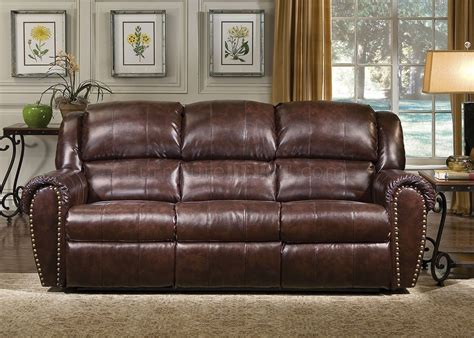 Leather Sofa Chairs by Cognac Brown Bonded Leather Sofa Chair Set W Reclining Seats