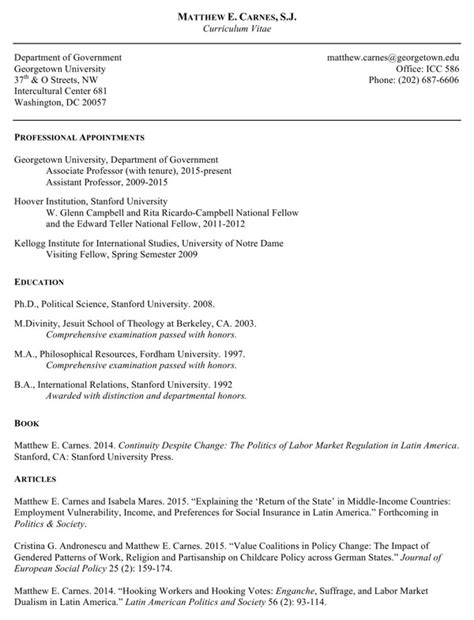 government curriculum vitae template curriculum vitae department of government for