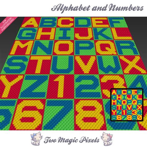 knitting pattern numbers alphabet and numbers crochet blanket twomagicpixels