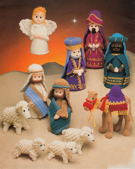 knitting pattern nativity nativity set crochet pattern donkey cow sheep all the