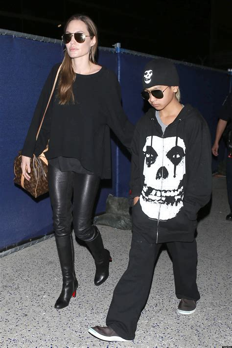 Angelina Jolie's Leather Pants Remind Us Of Her Wild Child