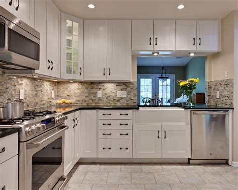 backsplash in white kitchen kitchen backsplash white cabinets rectangle silver kitchen