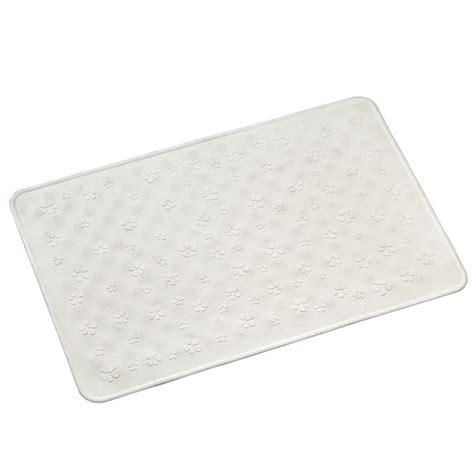 croydex flowers rubber bath shower mat 525 x 345mm