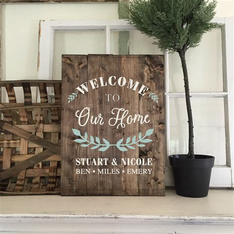 wooden home decor signs ar workshop