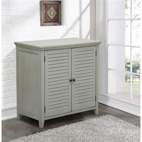 Louvered Cabinet Doors Home Depot Pulaski Furniture Louvered Gray Storage Cabinet Ds A042 857 The Home Depot