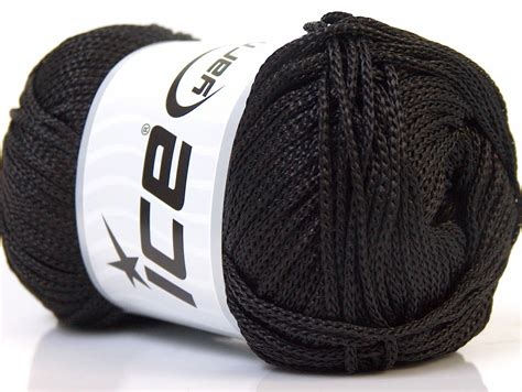 Macrame Yarn - macrame cord black basic plain yarns yarns
