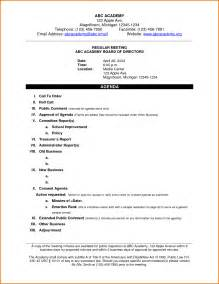 Template Of An Agenda by 7 Sle Meeting Agendas Divorce Document