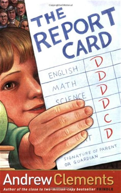 Credit Book Report by The Report Card By Andrew Clements Book Review Of Fiction